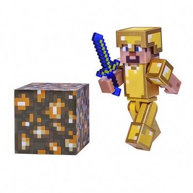 Minecraft 16488 Майнкрафт фигурка Steve in Gold Armor