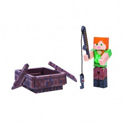 Minecraft 16491 Майнкрафт фигурка Alex with Boat
