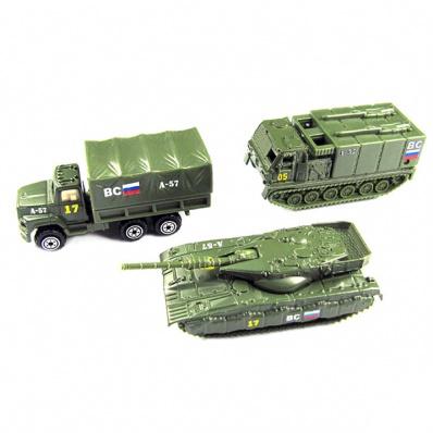 Wincars 86048-PT2049-4 Набор металлических машин военная техника 3 штуки