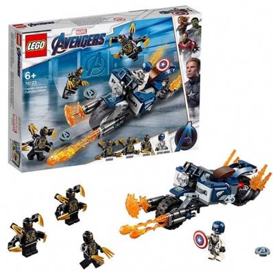 Lego Super Heroes 76123 Супер Герои Капитан Америка: Атака Аутрайдеров
