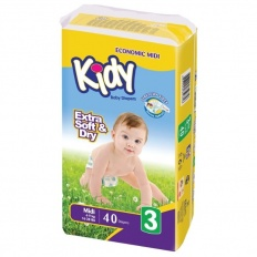 Kidy подгузники 3 (4-9 кг) 40 шт.