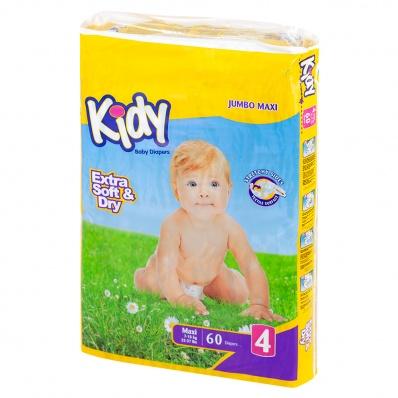 Подгузники Kidy 4 Maxi 7-18 кг 60 шт.