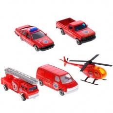 """Welly 97506B Велли Игровой набор """"Пожарная команда"""" 5 шт."""